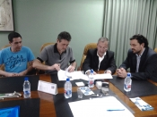 Firma del convenio AECA y AESI