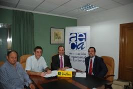 Ramón Tarazona, Francisco Rodenas (AECA), Jose Mª Company y Fran Ribera (Caixa Popular)